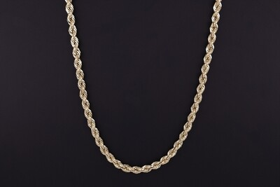 "14kyg 24"" 5mm Rope Chain"