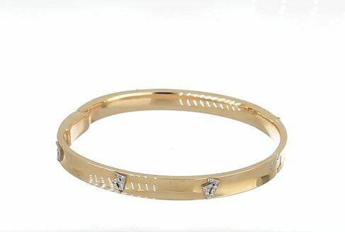 14K Gold Seven Bangle Diamond Bracelet
