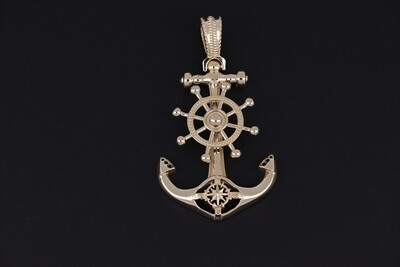 14KYG ANCHOR PENDANT