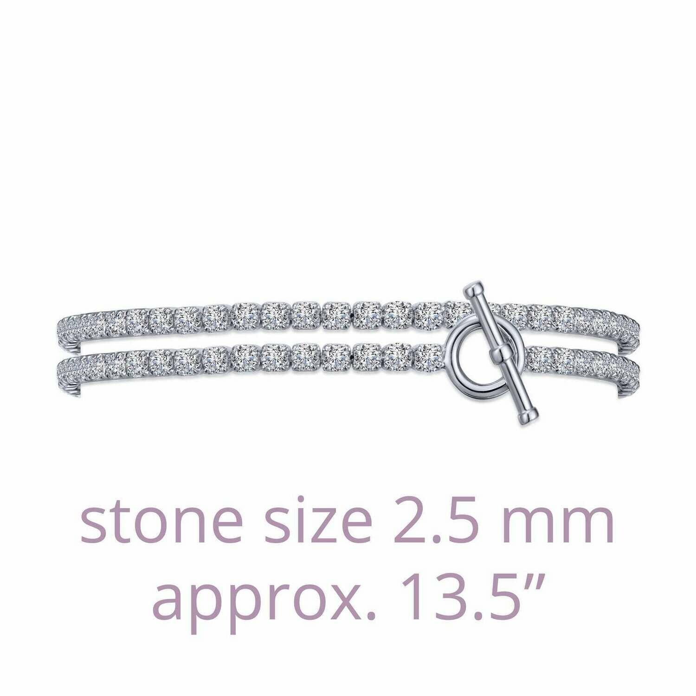 Double Wrap Tennis Bracelet