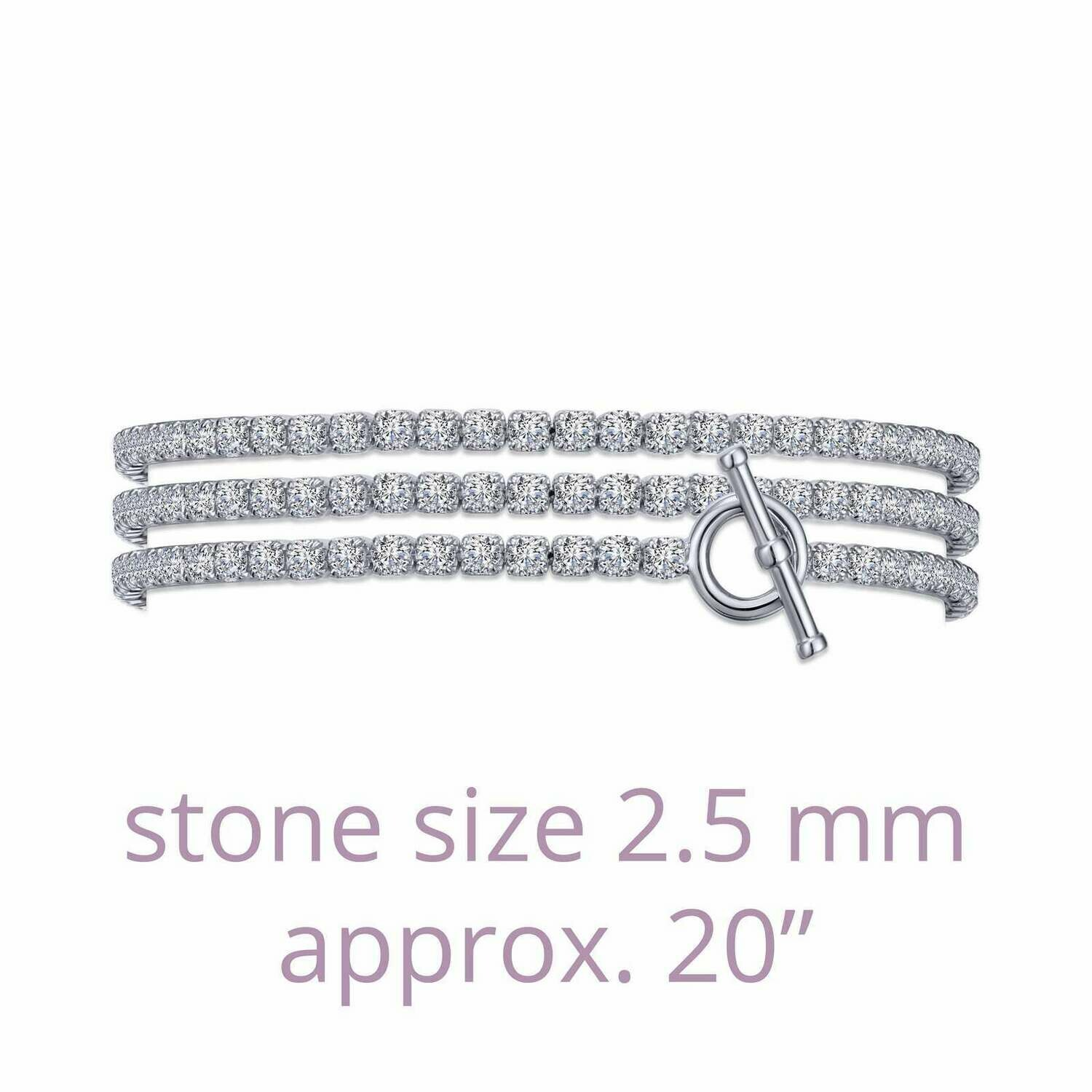 Triple Wrap Tennis Bracelet