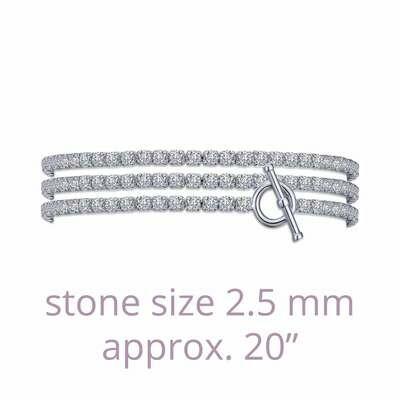 Triple Wrap Tennis Bracelet