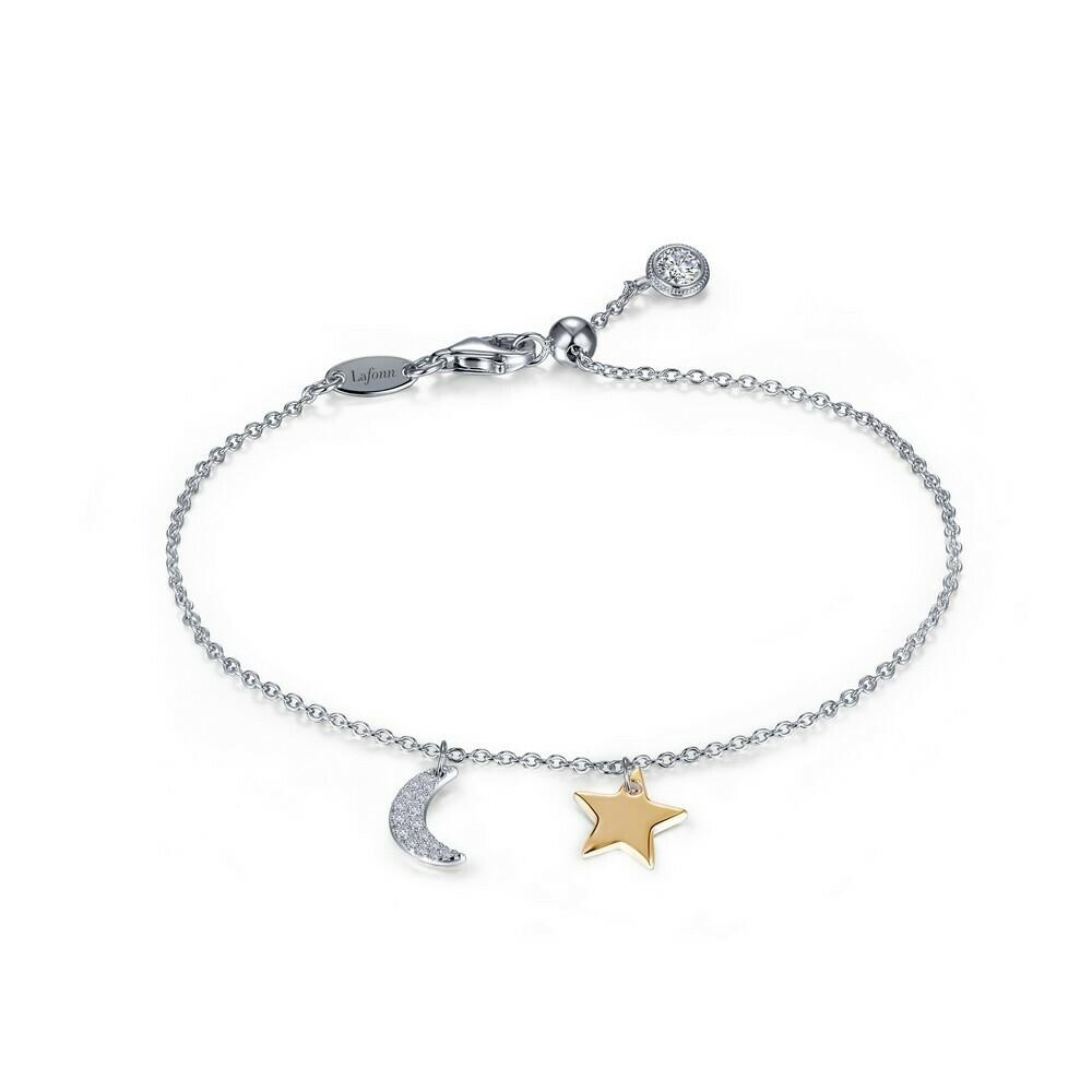 2-Tone Moon & Star Bracelet
