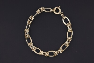 14KYG Oval Cable link Bracelet