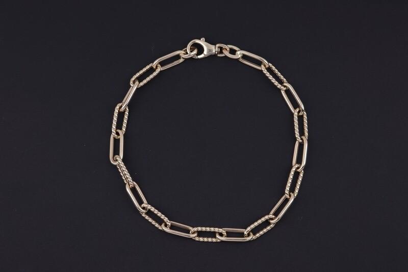 14KYG Paperclip design link Bracelet