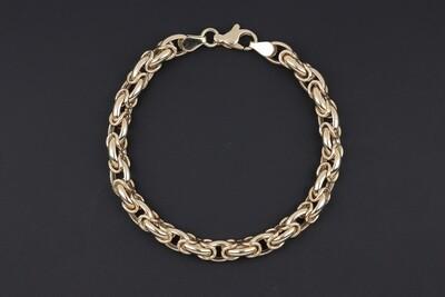 14KYG Byzantine link Bracelet