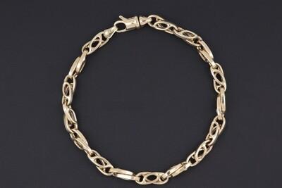 14KYG Crossed Mariner's link bracelet