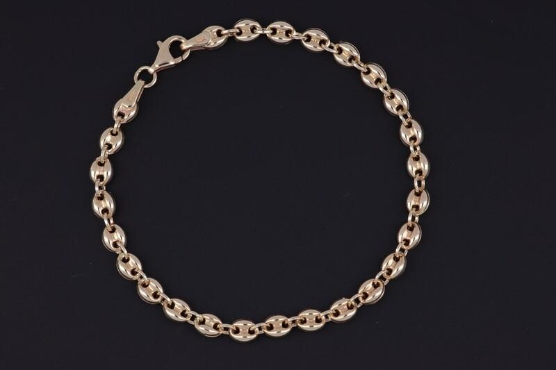 14KYG 4mm Mariner's link bracelet