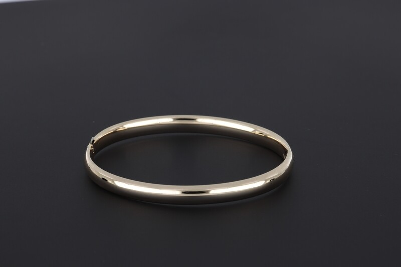 14kyg 6mm flat plain bangle