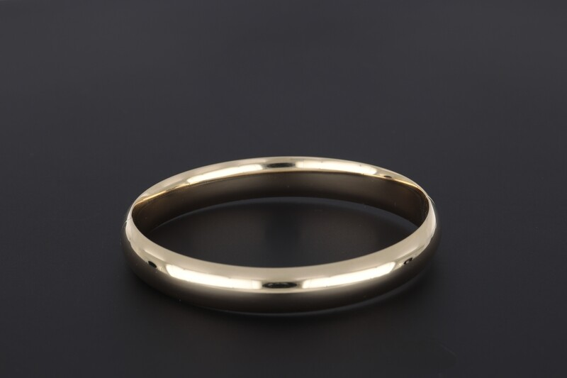 14kyg 10mm flat plain bangle