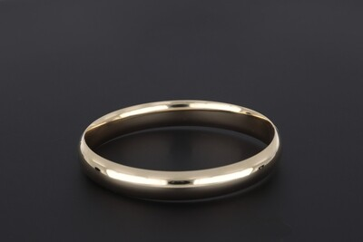 14kyg 10mm flat plain bangle