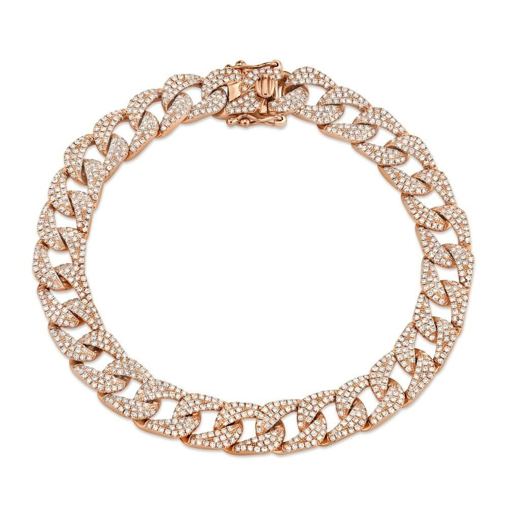 3.19CT DIAMOND PAVE CHAIN BRACELET