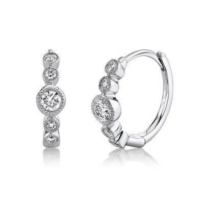 0.25CT DIAMOND HUGGIE EARRING