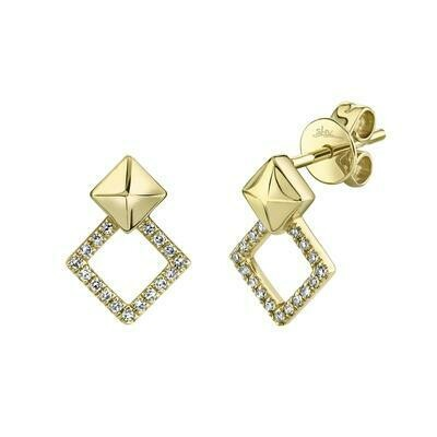 0.11CT DIAMOND STUD EARRING