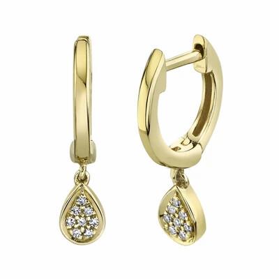 0.03CT DIAMOND HUGGIE EARRING