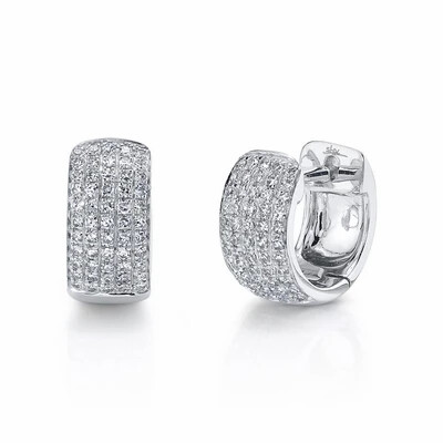 0.25CT DIAMOND PAVE HUGGIE EARRING