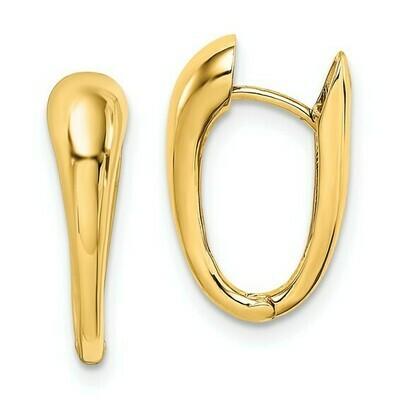 14K Polished Hinged Hoop Earrings