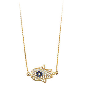 CZ HAMSA Hand Adjustable Necklace