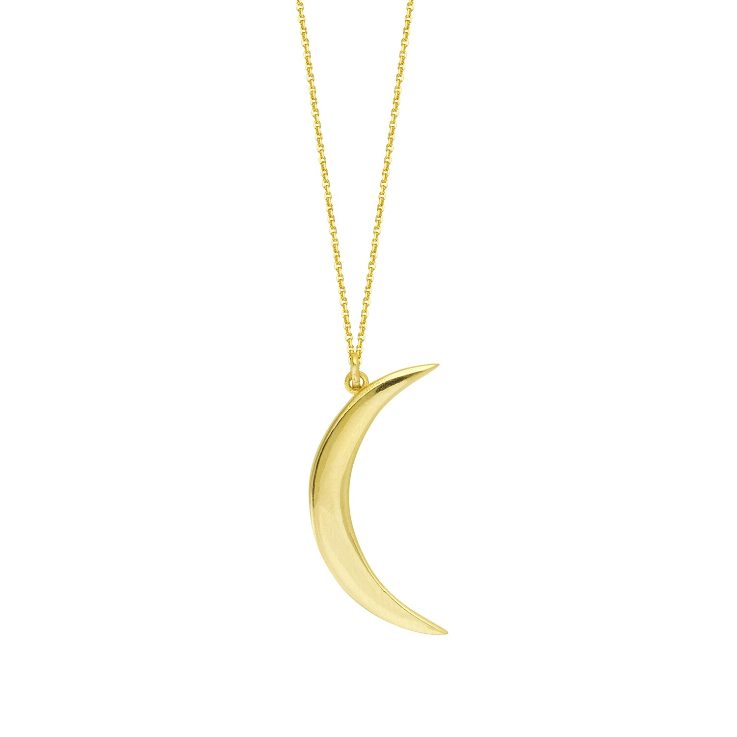 HALF MOON PENDANT WITH NECKLACE
