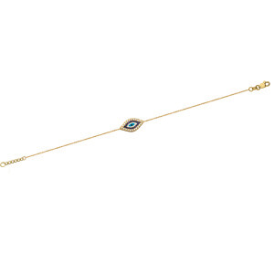 CZ Stone Evil Eye Adjustable Bracelet