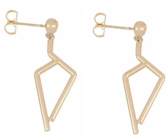 14kyg Seven Tube hanging Earrings
