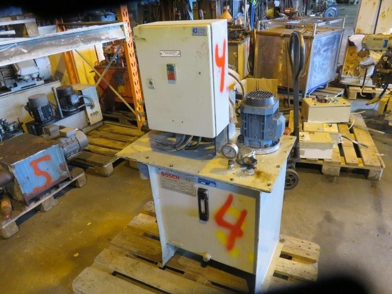 4. Hydraulik agregat -  0,75kw  80bar 5,6l/min 220-440v