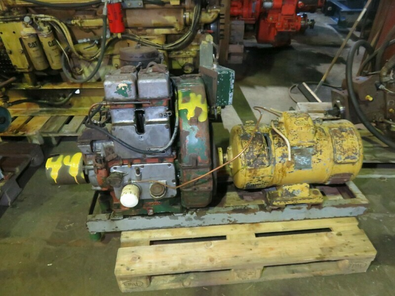 44.  Motor og Generator sett,   Lister 2 cyl
