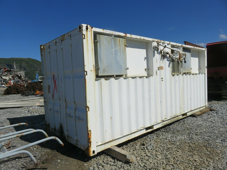 1. Container m/ hyd agregat 3 stk pumper og plate kjøler etc