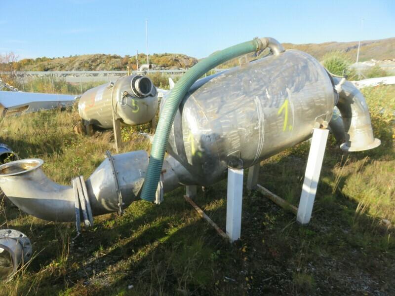 1. Vakumtanker og ventiler - 1350 liter, 100x170cm