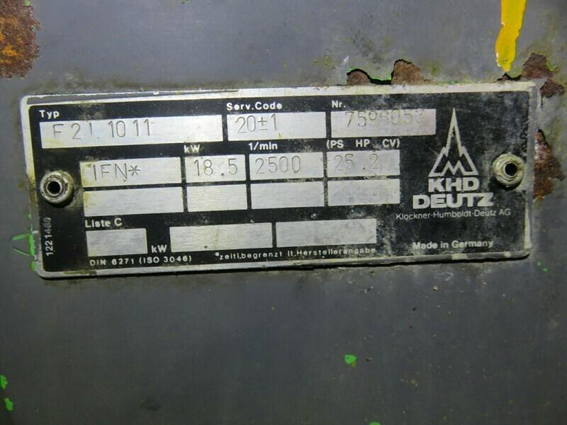 21. Deutz 25hp   2500 rpm      5kva 220v                       lekter