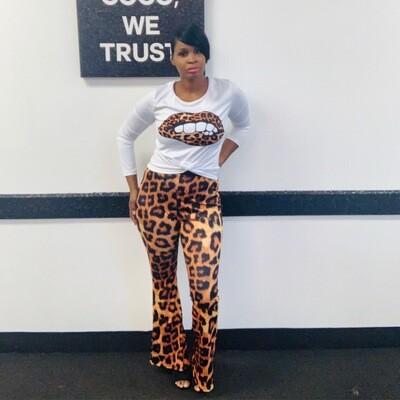 Leopard Pant Set