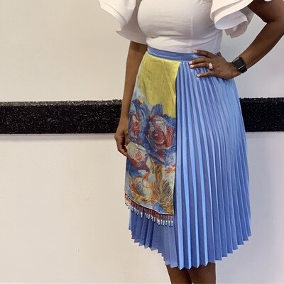 The Pleated Wrap Skirt