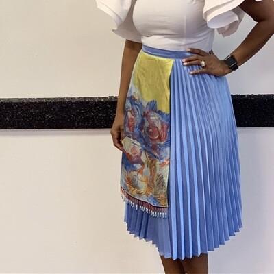 The Pleated Wrap Skirt