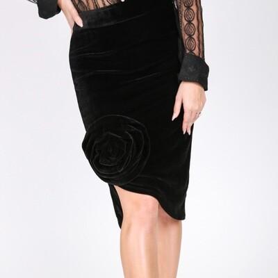 Black Velvet Flower Skirt (small)