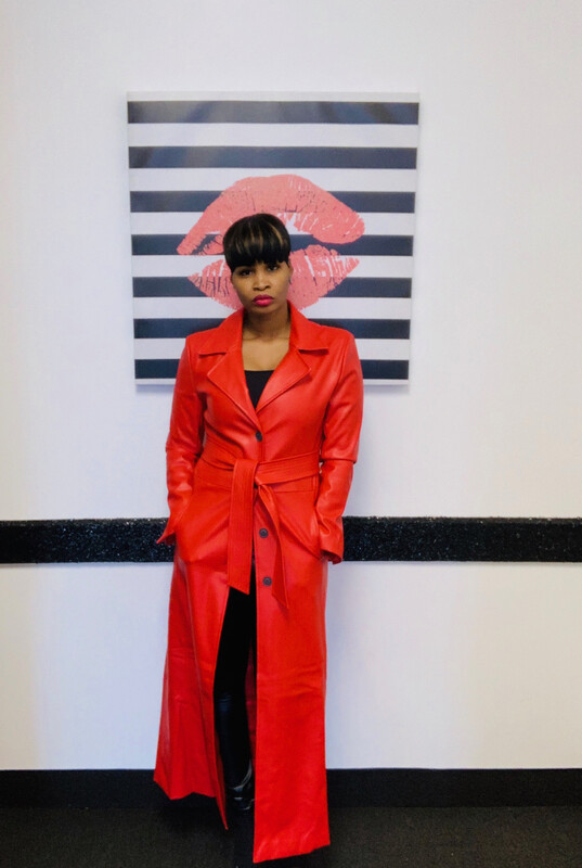 Red Faux Leather Maxi Coat