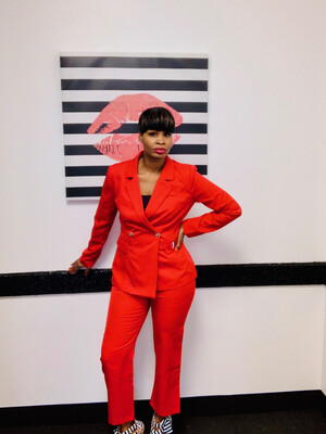 Red Power Suit