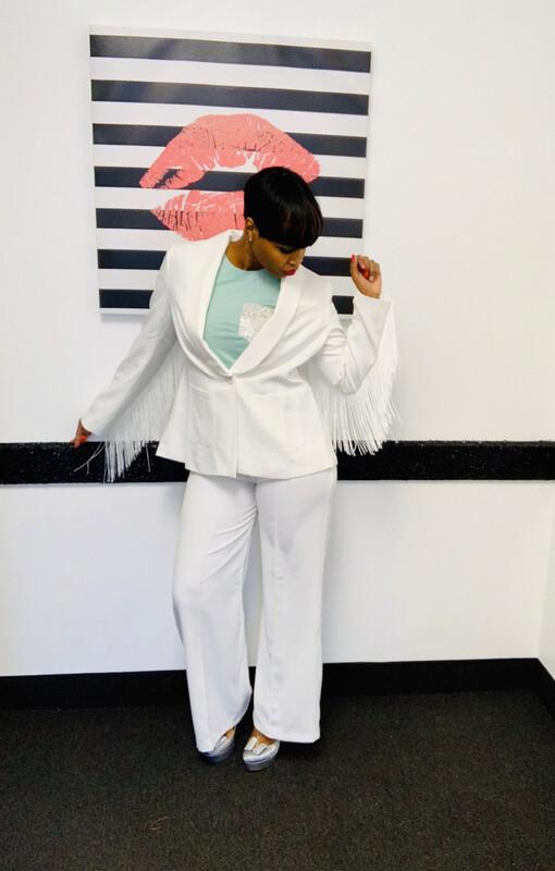Cream Fringe Jacket