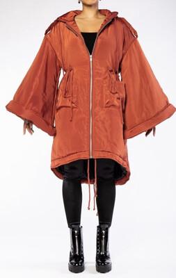 Cognac Bell Sleeve Coat