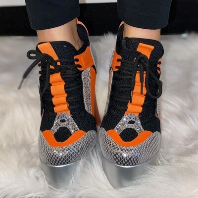Retro Orange Platform Shoe