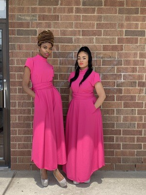 FUCHSIA Pink Maxi DRESS