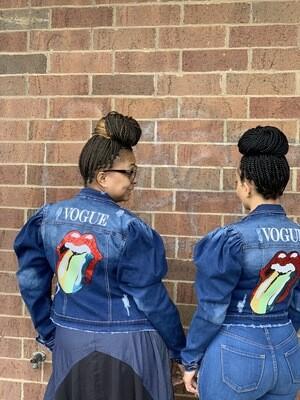Vogue Lip Denim Jacket