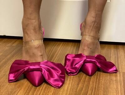 Classy Pink Bow Heel