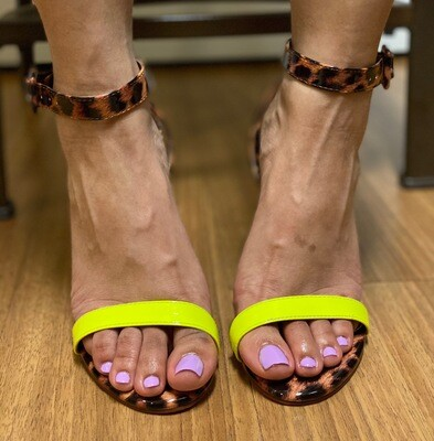 Neon Safari Heels