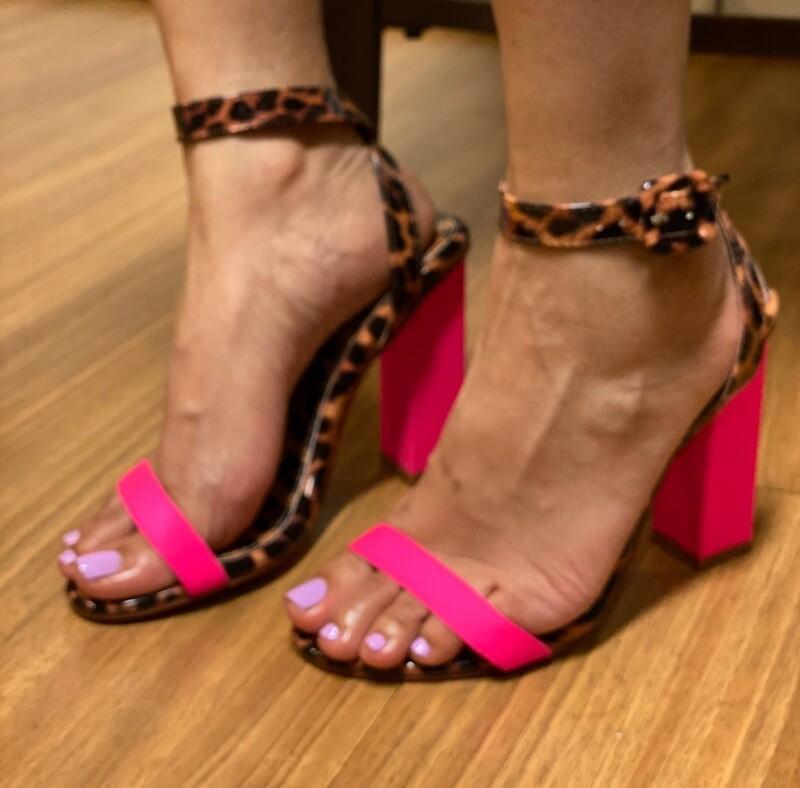 Pink Safari Heels