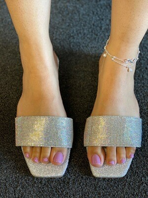 Sparkle Silver Slide