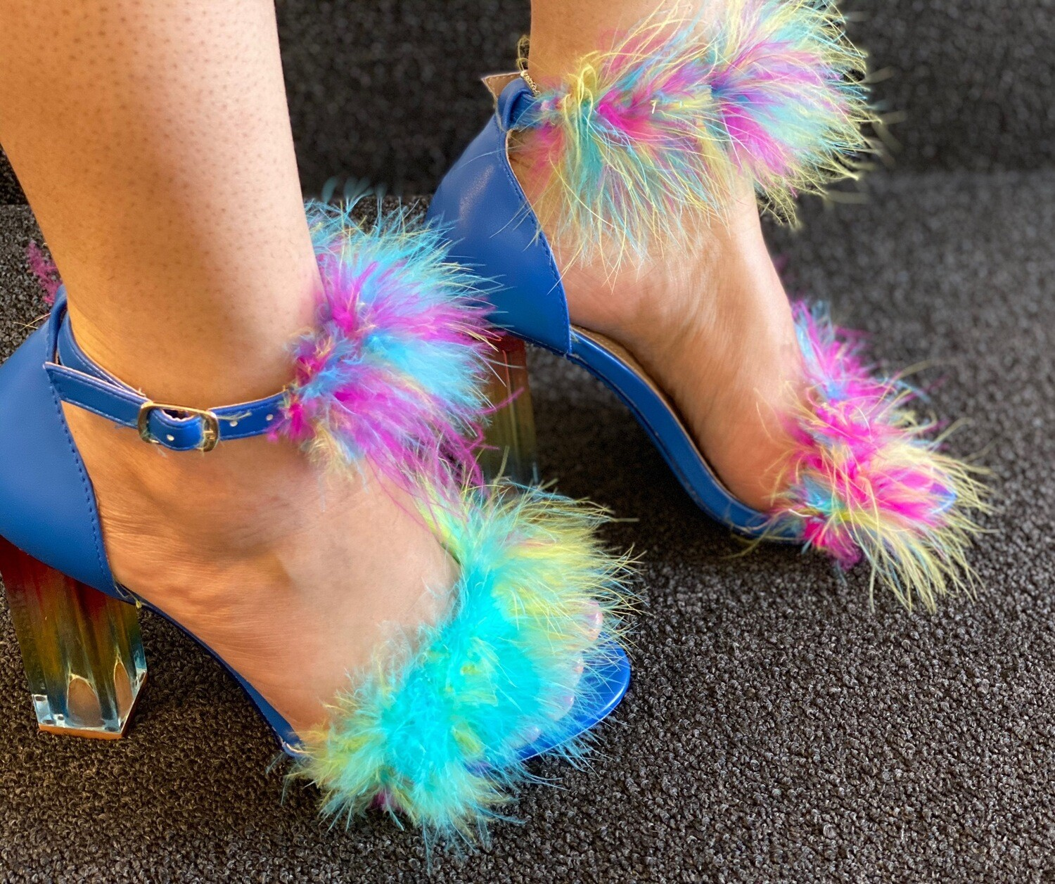 Sassy - Multi-color Feather Heel