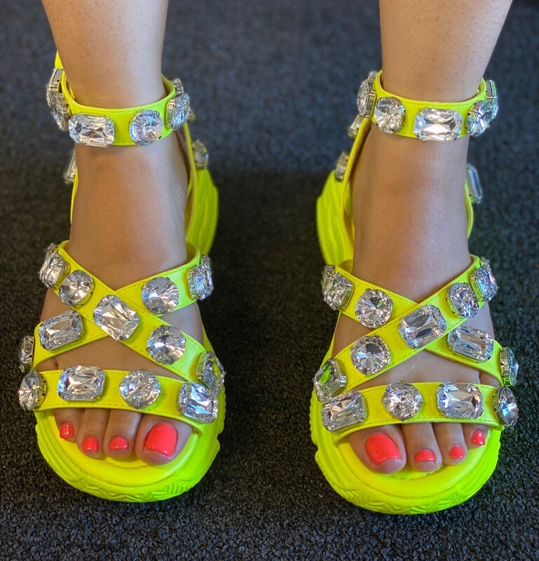 Electric Neon Bling Sandal
