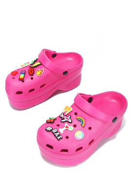 Pink Pinned Inspired Croc