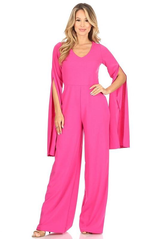 Fuchsia Pink Long Sleeve Jumper