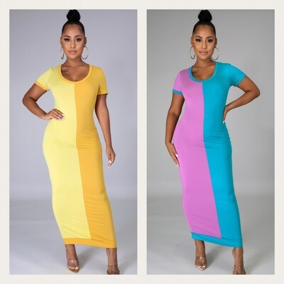 Best Of Both Worlds Two Tone Dress
